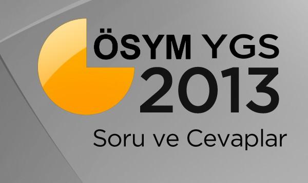 2013 YGS SORU VE CEVAPLARI