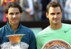 Rafael Nadal, Roger Federer&#39;i korttan sildi