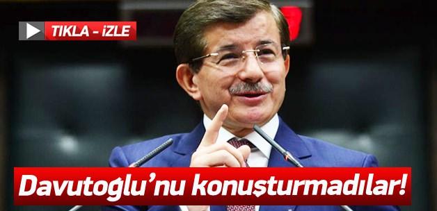 Ahmet Davutoğlu'nu konuşturmadılar