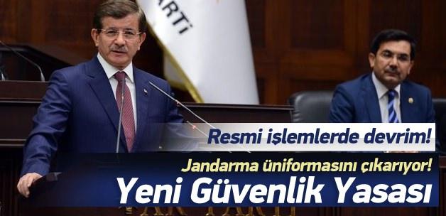 Başbakan Davutoğlu iç güvenlik paketini açıkladı