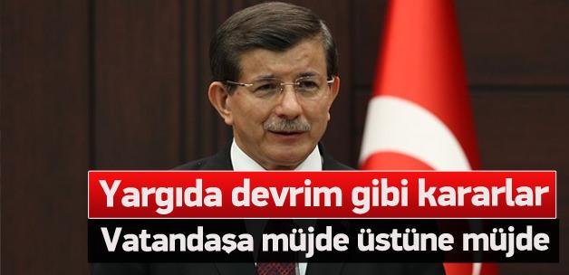Başbakan Davutoğlu yargı reformunu tanıttı
