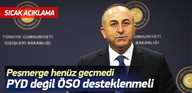 Çavuşoğlu: Peşmerge henüz Türkiye'den geçmedi