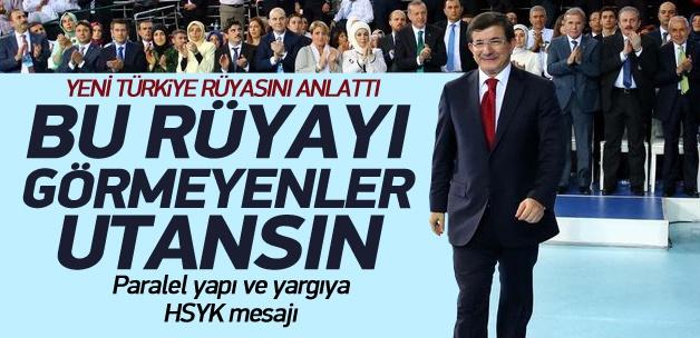 Davutoğlu, yeni Türkiye rüyasını anlattı