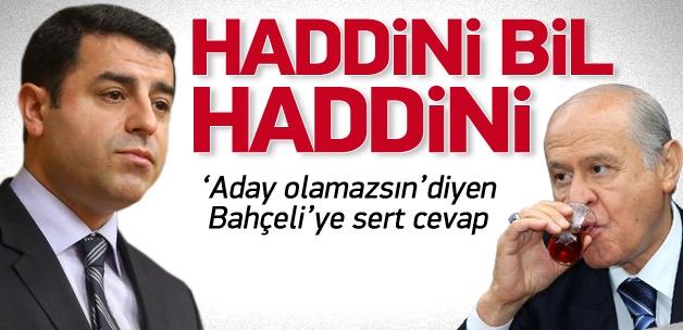 Demirtaş'tan Bahçeli'ye: Haddini bil!