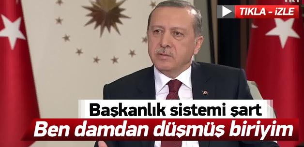 Erdoğan'dan flaş başkanlık sistemi açıklaması