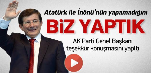 Genel Başkan Ahmet Davutoğlu konuştu