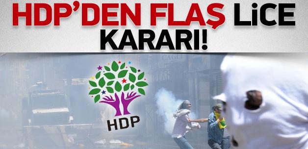 HDP'den flaş Lice açıklaması!