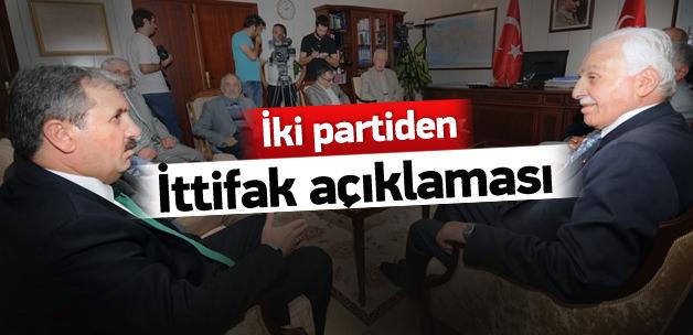 İki parti ittifakında flaş açıklama!