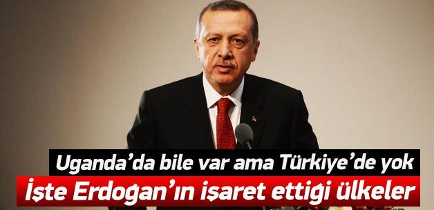 İşte Erdoğan'ın işaret ettiği o ülkeler