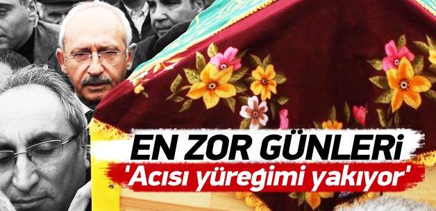 Kılıçdaroğlu mezar başında eşini teselli etti