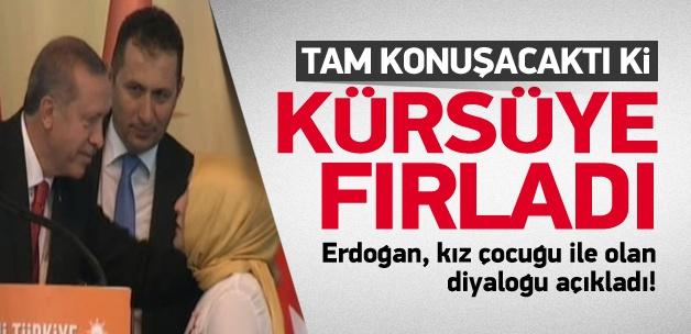 Kız çocuğu, Erdoğan'a neler söyledi?