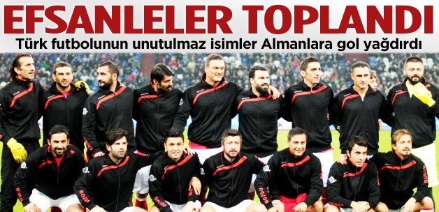 Türkiye 7-2 Almanya efsaneler maçı özeti
