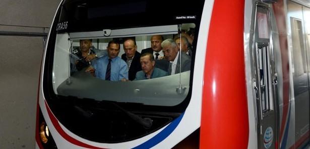 Erdoğan, Marmaray'ın test sürüşünü yaptı