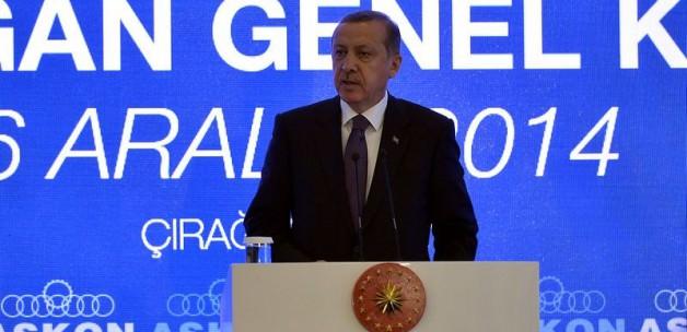 Erdoğan'ın bir sözü salonu ayağa kaldırdı