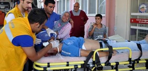 Suriye'den gelen mermi, Urfalı Ahmet'i vurdu!